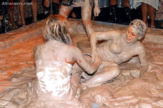 mud-wrestling